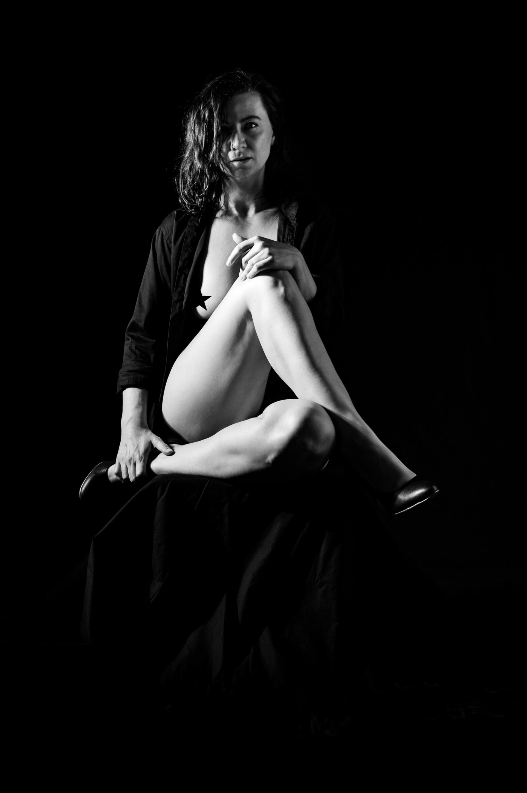 sexy Portrait einer halbnackten Frau